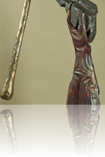 African woman pounding grain (Skulpture) Kunstschmied Mark Prouse