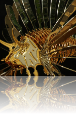Lion Fish (Skulptur) Kunstschmied Mark Prouse
